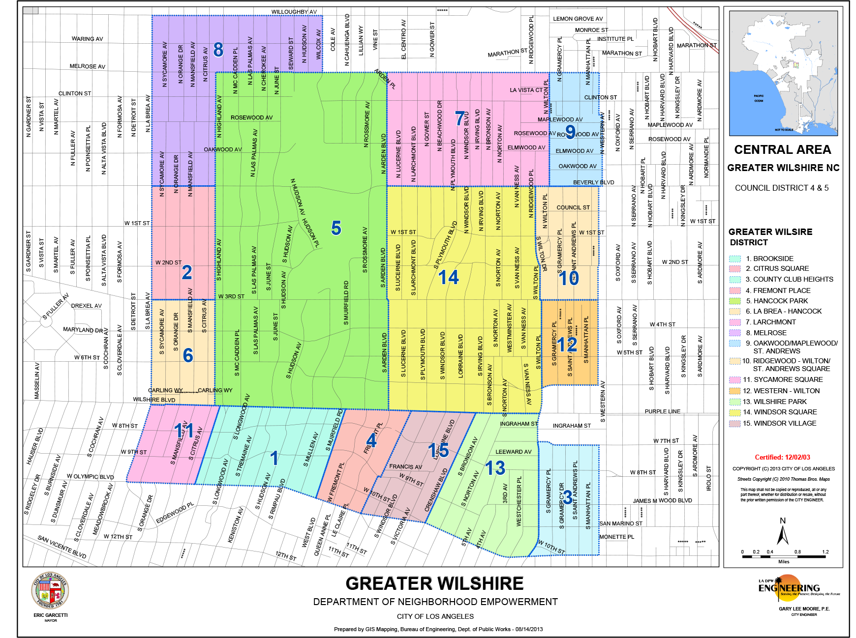 Greater Wilshire Map - 08-14-2013